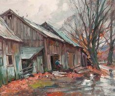 Emile Albert Gruppé (American, 1896-1978)      Rainy Day Vermont