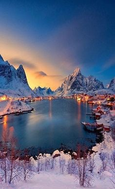 Lofoten, Norway I'd love to visit little towns like this.towns with amazing vistas and lots of charm. Places To Travel, Places To See, Travel Destinations, Amazing Places To Visit, Time Travel, Travel Tourism, Vacation Places, Lofoten, Places Around The World