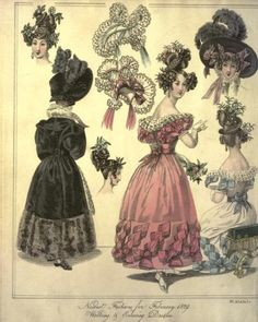 Artfully Musing: Vintage Fashion Plates – First Set Fashion History, World Of Fashion, Retro Fashion, Vintage Fashion, Women's Fashion, Decoupage, Victorian Paintings, Cinderella Costume, Female Pictures