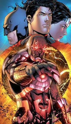 DC Comics — comics-station: DC Trinity by Jeremiah. Dc Comics Heroes, Arte Dc Comics, Dc Comics Characters, Fun Comics, Comic Anime, Anime Comics, Comic Books Art, Comic Art, Darkseid Dc