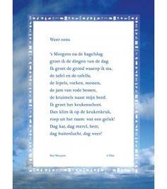'Weer eens' | raamgedicht | window poem | www.plint.nl | NL |