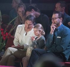 Princess Estelle of Sweden went with her parents Crown Princess Victoria and Prince Daniel to the Scott Circus in Stockholm on September 10, 2016.