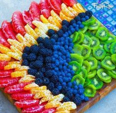This looks so delicious.I could eat an entire fruit platter to myself! Fruit And Veg, Fruits And Veggies, Fresh Fruit, Raw Food Recipes, Healthy Recipes, Healthy Food, Healthy Fruits, Healthy Chicken, Chicken Recipes