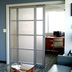 Suitable for smaller or larger openings, these sliding wall partitions are a perfect alternative to more expensive and permanent options for a room divider. Internal Sliding Doors, Sliding Wall, Sliding Glass Door, Glass Doors, Double Doors, Sliding Pantry Doors, Glass Bathroom, Interior Barn Doors, Exterior Doors