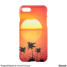 Tropical Sunset iPhone 7 Case  #iPhone7 #Case #iphone #apple