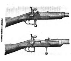 Drawing of Prince's Breech-loader from Hans Busk's 'The Rifle'
