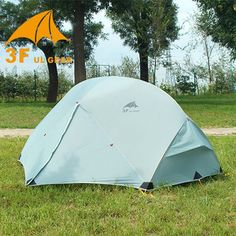 140.25$  Watch more here - http://airdg.worlditems.win/all/product.php?id=32695456065 - Outdoor 3F Ul Gear 2 Person Camping Tent 15D Silicone Ultralight Double Layers Aluminum Rod Winterized Tents 4 Season Waterproof
