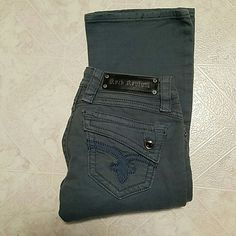 Women's Rock Revival Jeans Rock Revival (Size 25x32) Johanna Boot Cut in Teal. Like New Jeans Boot Cut