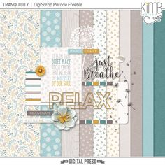 Free Tranquility Mini Kit from KimB Designs - August 2017 DigiScrap Parade