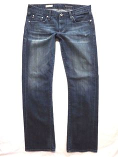 Adriano Goldschmied size 32 x 33 Tomboy boyfriend fit straight leg Womens jeans #AGAdrianoGoldschmied #BoyfriendCapriCropped