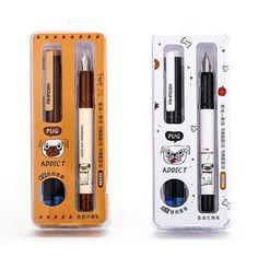 e0f77384f44 Caneta Tinteiro Pug Addiction Canetas Fofas