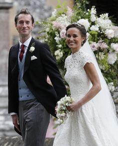 <p><em>[Photo: PA]</em> </p> Pippa Middleton Style, Pippa Middleton Wedding, Middleton Family, Pippas Wedding, Wedding Robe, Sister Wedding, Wedding Gowns, Wedding Photos, Wedding Outfits