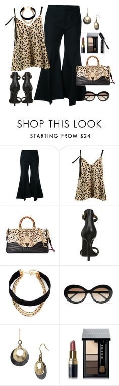"""""""Leopard!"""" by diane1234 ❤ liked on Polyvore featuring Irene, Cinq à Sept, Gucci, Kenneth Cole, Lacey Ryan, Sunday Somewhere and Bobbi Brown Cosmetics"""