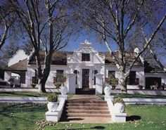 Nederburg, one of South Africa's Cape Dutch homesteads/wineries Dutch Colonial, Spanish Colonial, Dutch Gardens, Cape Dutch, Dutch House, Facade House, House Facades, House Exteriors, Pasadena California