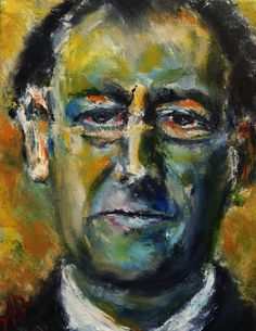 "Portrait of Kurt Schwitters, Oil on Canvas 14x11"",  © Copyright 2012 Alan Derwin"
