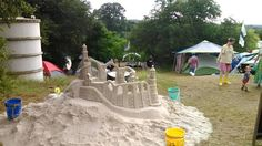 This year, the sand castle came up from the meadow to the area next to Threadgill!