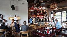 Cosy lodge-like feel: Kipling's Garage Bar in Turramurra.