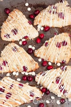 Planning a New Year's Day brunch? Try these white chocolate scones with fresh cranberries.
