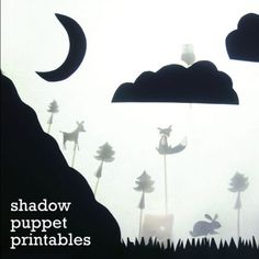 shadow puppets, kids craft, play time, activity, fox, owl, rabbit, deer