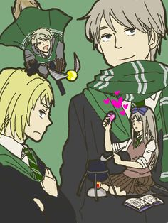 Hetalia x Harry Potter - There's Russia, Prussia, Switzerland, and Belarus. I can actually see Belarus doing that so she can make her brother fall for her…
