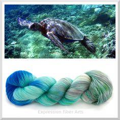 Expression Fiber Arts - SEA TURTLE SUPERWASH WOOL LACE, $22.00 (http://www.expressionfiberarts.com/products/sea-turtle-superwash-wool-lace.html)