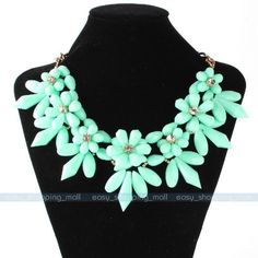 Women Charm Crystal Choker Chunky Statement Bib Necklace  Chain