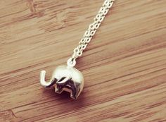 Luck, sterling silver elephant necklace