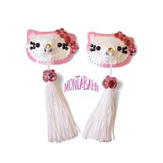 Hello Kitty tassels. For the sexy Hello Kitty in all of us.