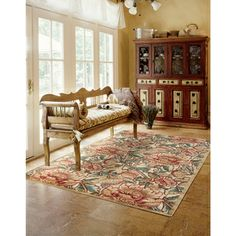Nourison Graphic Illusions Gold Flower Pattern Rug  (7'9 x 10'10)