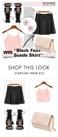 """NEW ROMWE CONTEST, WIN ''Black Faux Suede Skirt''"" by mini-kitty ❤ liked on Polyvore featuring Zimmermann and Givenchy"