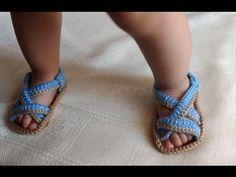 como hacer hermosas Sandalias en crochet- huaraches - crochet viral - YouTube