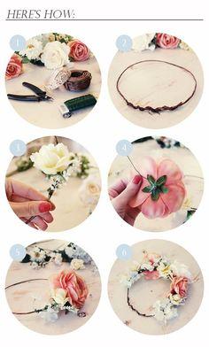 DIY Tutorial DIY WEDDING / DIY FLOWER CROWN - Bead&Cord