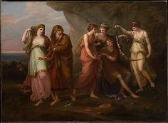 Telemachus and the Nymphs of Calypso  Angelika Kauffmann  (Swiss, Chur 1741–1807 Rome)  Date: 1782