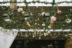 Teto floral em treliça