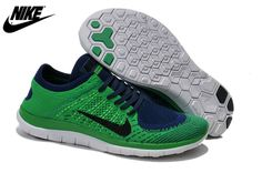 the latest eb059 484a9 Mens Nike Free 4.0 Flyknit Shoes Prase Navy Blue 631053,Wholesale Cheap Nike ,Jordans