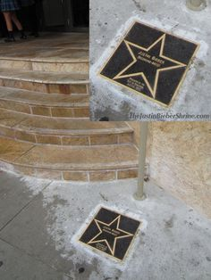 Justin's star in front of the Avon theatre in Stratford