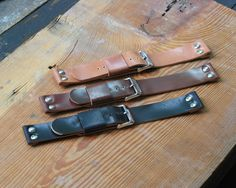 Buckshot Sonny's — Horween Shell Cordovan Six Rivet Leather Watch Band