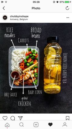 Weight Loss Meal Prep For Women Week In 1 Hour) Healthy office lunch with lemon iced green tea Lunch Meal Prep, Healthy Meal Prep, Healthy Snacks, Healthy Eating, Healthy Recipes, Fitness Meal Prep, Health Fitness, Most Effective Diet, Low Carb Diet Plan