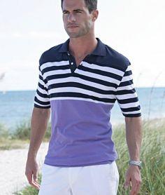 Tricouri ieftine: Tricou polo mov bleumarin dungat BPC