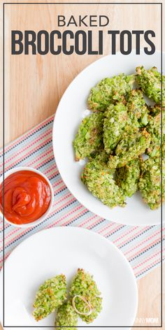 Baked Broccoli Tots- Here's a creative way to get kids (and adults) to eat their veggies!