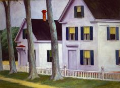 """Edward Hopper, """"Two Puritans"""" Oil on Canvas From """"Largest selection of works by Edward Hopper opens at Museo Thyssen-Bornemisza"""" American Realism, American Artists, Edward Hopper Paintings, Gregory Crewdson, Ashcan School, Belle Villa, First Art, Social Realism, Architecture"""