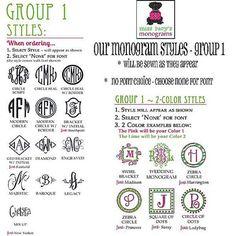 monogram style group 1 sharp