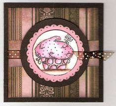 Kharma and Cupcakes by mitchygitchygoomy - Cards and Paper Crafts at Splitcoaststampers Cupcake Photos, Cupcake Images, Tombow Markers, Paper Cupcake, Basic Grey, Fun Cupcakes, Watercolor Pencils, Petunias, Cute Cards
