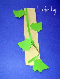 Alphabet Letter I is for Ivy. preschool craft