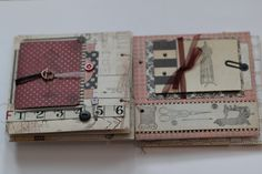 sewing-themed handmade mini album by АрлеНouse