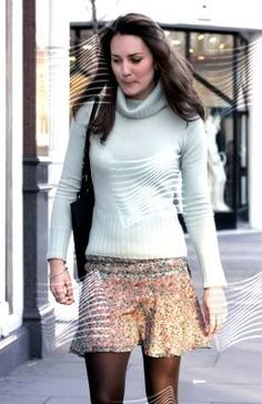 March 7, 2006 - Kate was spotted shopping at Russell and Bromley in London. She looked at shoes and handbags but left without buying anything.
