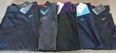 "1 Pair NWT Women's XL Nike Regular Capri ""Be Strong"" Dri Fit CHOOSE COLOR"