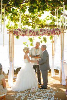 Hawaii wedding decor  beach wedding canopy
