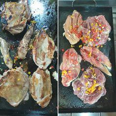 Pechuga y muslo deshuesado a la plancheta!!! Carne Asada, Shrimp, Meat, Food, Homemade Food, Cook, Clean Eating Meals, Breast, Homemade