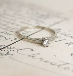 Edwardian 18k Classic Diamond Solitaire, Erica Weiner Jewelry, $875.00 // Would it be bad for me to buy this and keep it for when I find someone who wants to propose? Because this actually the most perfect ring.